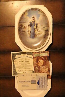 Bradford Exchange Visions Of Our Lady Plate Our Lady of Medjugorje w/COA