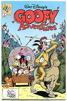 GOOFY ADVENTURES #3, NM+, Walt, 1st Disney, 1990, Mickey Mouse, more in store
