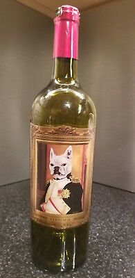 Frenchie Vineyards/Carol Lew Bottle feat French bulldog