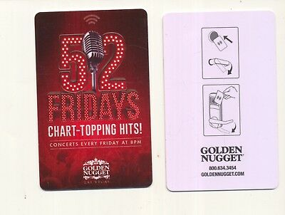 "new from---THE GOLDEN NUGGET------""52 Fridays""--Las Vegas,NV---Room key"