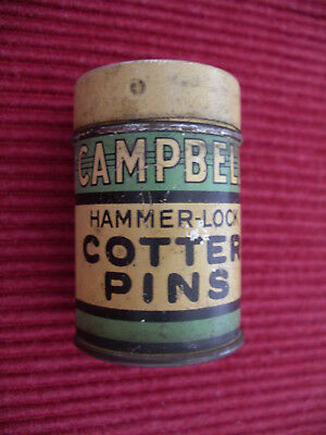 Campbell Hammer Lock Cotter Pin Tin with Cotter Pins