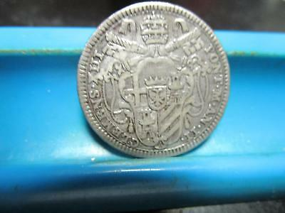 1759 - Papal States - 1/5 Scudo  - .900  Silver - 25-mm       (H-78)