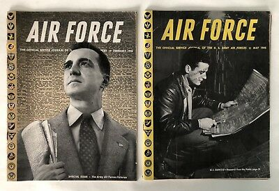 2 Copies Of Air Force - The Official Journal Of The U.S. Army Air Forces 1945/46