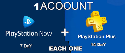PS plus 14 DAY/PS NOW 7 DAY PS4/PS3/PS Vita PLAYSTATION