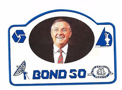 Alan Bond - Chairman Bond Brewing - Rare Limited Edition 'bond 50' Beer Label