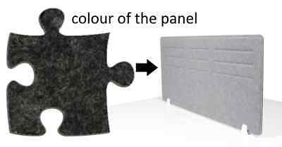 Acoustic Privacy Desk Screen Divider Panel 580mmH x 1180mmW COLOUR-DARK GREY #17