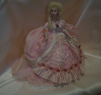 1/12th Scale  dollhouse doll  in pink . Lots of details  !  by Bonita.