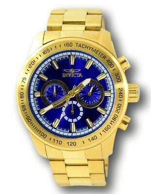 Invicta Speedway 21797 Men's Blue Dial Gold Stainless Chronograph Watch 48mm