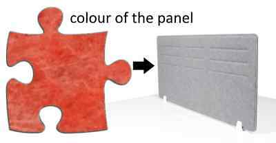 Acoustic Privacy Desk Screen Divider Panel 580mmH x 1180mmW COLOUR-LIGHT RED #6