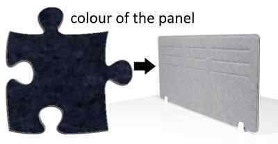 Acoustic Privacy Desk Screen Divider Panel 580mmH x 1180mmW COLOUR-MID BLUE #25