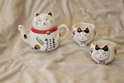 Charming Traditional Culture Japanese Lucky Cat Ceramic teapot