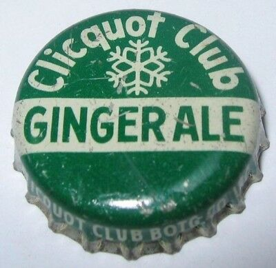 Clicquot Club Ginger Ale Soda Bottle Cap; Harrisburg, Pa; Used Cork