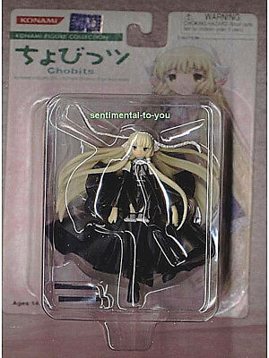 Rare KONAMI Clamp CHOBITS anime/manga BLACK/Dark CHII/Chi/Freya Figure FREE SHIP