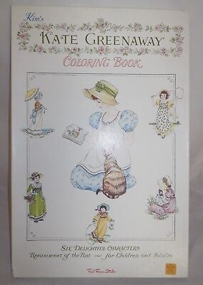 VINTAGE KATE GREENAWAY Coloring Book 6 Uncolored Clean Pages Old ...