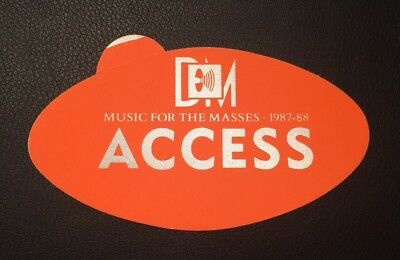 DEPECHE MODE Backstage Pass - Music For The Masses TOUR -  1987-88 All Access