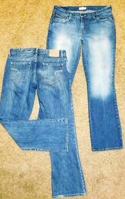 American Eagle Jeans Lot, 2 Pair, Hipster Fit, Women Size 8 Reg, Acid Washed VGC