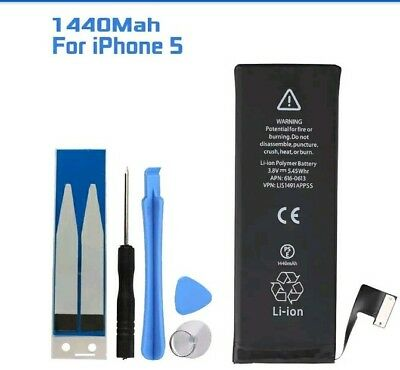 1440mAh Li-ion Internal Replacement Battery +Tool & Adhesive For Apple iphone 5