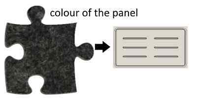 Acoustic Privacy Desk Screen Divider Pressed Panel 340mmH x 580mmW COL-GREY#17