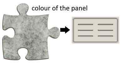 Acoustic Privacy Desk Screen Divider Pressed Panel 340mmH x 580mmW COL-GREY#3
