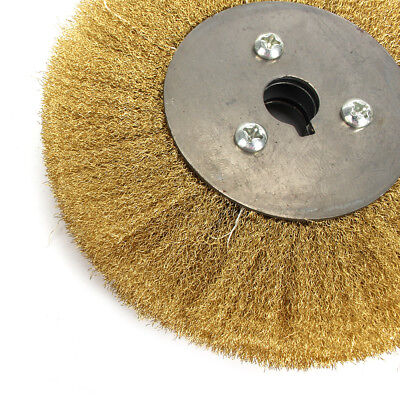 200mm Soft Brass Wire Wheel Pure Copper Brush For Deburring Descaling Finishing