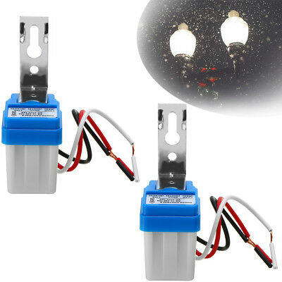 2pack 12v 10a Led Auto On Off Street Photocell Light Switch