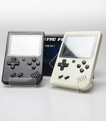 "Retro FC Mini TV Handheld Console 3"" Built in 168 Games Mario Classics New"