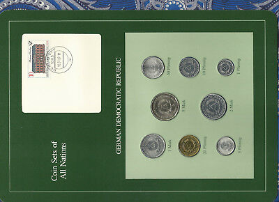 Coin sets of all nations East Germany w/card  1979-1981 UNC 5 Mark 1980 30,000