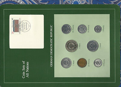 Coin sets of all nations East Germany w/c 1979-1981 UNC 5 Mark 1979 KM#29 32000