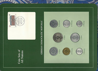 Coin sets of all nations East Germany w/c UNC 1979-1981 5 Mark KM#29 1980 30,000