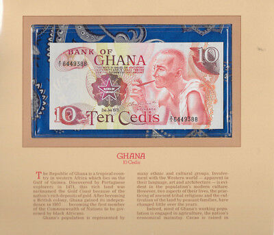 Most Treasured Banknotes Ghana 1978 10 Cedis P16f AUNC Prefix Z/1