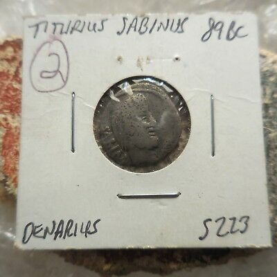 "VF! Republic ""Sabine Women"" Denarius. 89 BC! Ex Heritage Auction of Old Estate:"