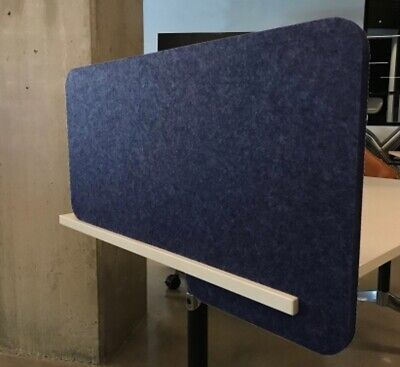 SLIDE-ON DIVIDER SCREEN  Acoustic Privacy Desk Panel COLOUR-MID BLUE #25