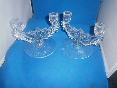 Pair Crystal 2 Arm Candle Holders