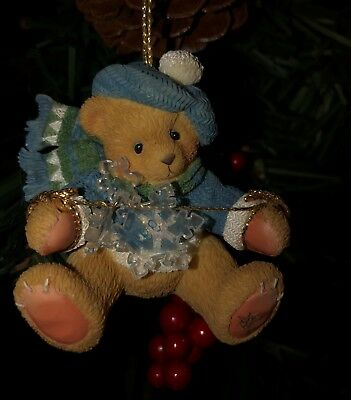 Cherished Teddies Ornament. Bear with Dangling Snow Flakes Item # 272175
