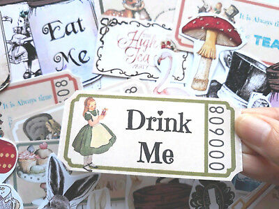 100 Alice in the wonderland Mad Hatters Tea Party Supplies Scrapbooking & Card