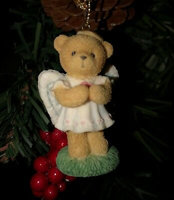 Cherished Teddies Ornament. Angel with Folded Hands Carlton Cards Exclusive