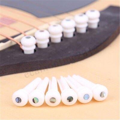 Durable Cattle Bone Bridge Pins Endpin w/ Abalone Dot for Acoustic Guitar