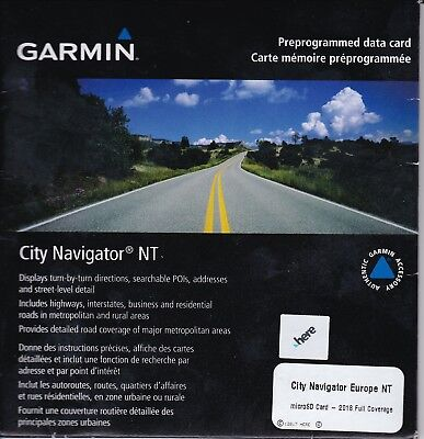 Garmin GPS City Navigator EUROPE NT 2018 Full Coverage Micro & SD Card Update
