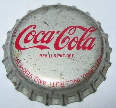 Coca-Cola Soda Bottle Cap; Rutland, Vermont; Used Cork-Lined