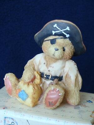Cherished Teddies - Taylor - Bear Dresses As A Pirate Figurine - 617156 - 1994