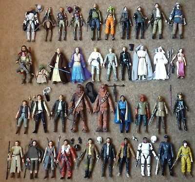 Star Wars Black Series Lot of 79 figures EXCLUSIVES 6 inch & more plus many rare