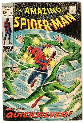 Amazing Spider-Man #71 Featuring Quick Silver, Very Good Condition