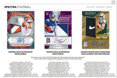 2018 Panini Spectra Football Hobby Live Pick Your Player (Pyp) 1 Box Break