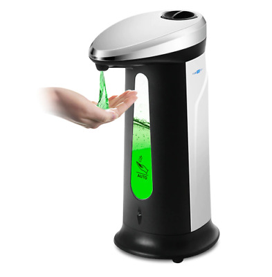 400Ml Automatic Liquid Soap Dispenser Smart Sensor Touchless ABS Electroplated S