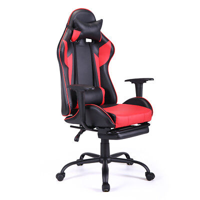 Ergonomic Swivel Gaming Chair High-back Office Computer Chair Racing Style Red