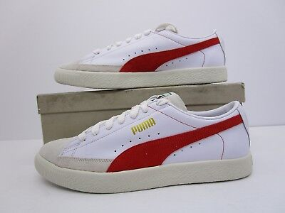 PUMA BASKET 90680 Mens White Leather Lace Up Sneakers Shoes -  28.99 ... d37770fb9