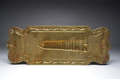 Antique  Brass Door Push Sign - Compliments of The Coca-Cola Company 1901
