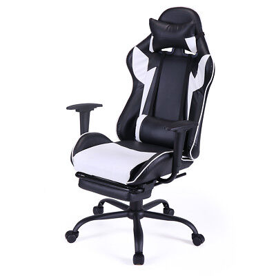 White Office Chair High Back Computer Racing Gaming Chair Ergonomic