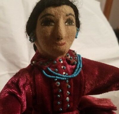 Well-Known Navajo Artist/Activist Kay Bennett Navajo Doll Native American Indian