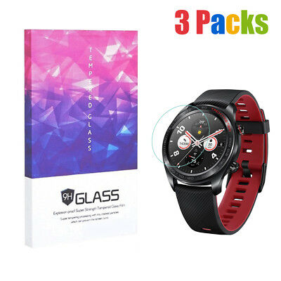 For HONOR Watch Magic Tempered Glass Screen Protector 9H Hardness Clear(3 Packs)